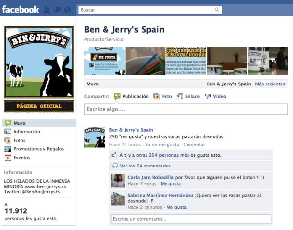 Fan page Ben&Jerry's